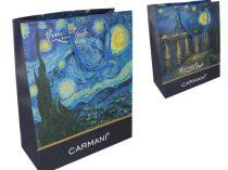 Ajándéktáska papír 40x30x15cm, Van Gogh:Csillagos éj/Csillagos éj a Rhone folyó felett