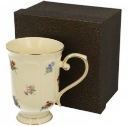 Virágos porcelán bögre