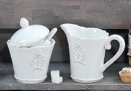 Tej és cukor tároló monogrammal