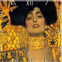D.I.19-02 Üveg falióra 30x30cm,  Klimt: Judit