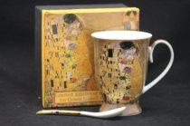Porcelánbögre kanállal 250ml,Klimt:The Kiss