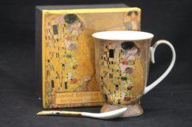 P.P.W3A38-16823 Porcelánbögre kanállal 250ml,Klimt:The Kiss