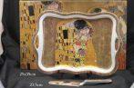 P.P.W4A29-16414 Porcelántálca lapáttal 35X24cm Klimt:The Kiss