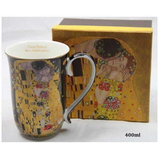 Porcelánbögre 400ml,Klimt:The Kiss
