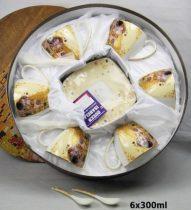 Porceláncsésze+alj 250ml, 6 személyes szett kanállal,Klimt:The Kiss