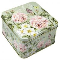 Fém doboz pillangóval