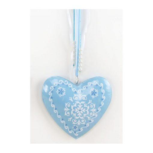 Kék szív ajtódísz