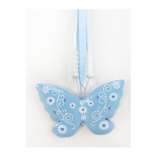 Kék pillangó ajtódísz