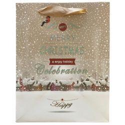 Merry Christmas ajándék táska (23x18x10cm)