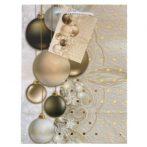 Karácsonyi gömbök ajándék táska (23x18x10cm)