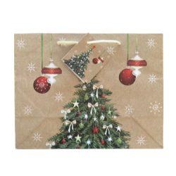 Karácsonyfa ajándék táska (18x23x10cm)