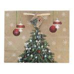 Karácsonyfa ajándék táska (26x33x13cm)
