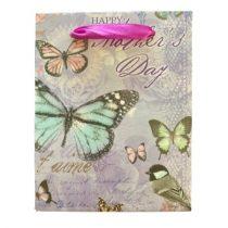 Anyák napja lila ajándék táska (14x11x6cm)