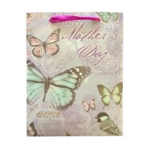 Anyák napja lila ajándék táska (23x18x10cm)