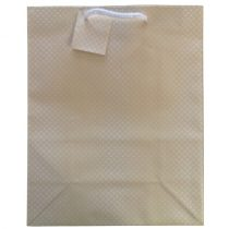 Sárga pöttyös ajándék táska (33x26x13cm)