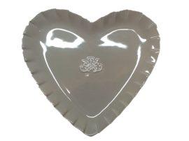 Szív alakú tál krém-barna