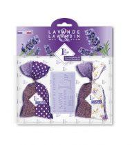 Levendulával töltött Bicolore Violet zsák 2db, 18g+levendulaszappan 100g