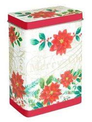T.M.66123071 Poinsettie konyhai fémdoboz 82x52x119mm