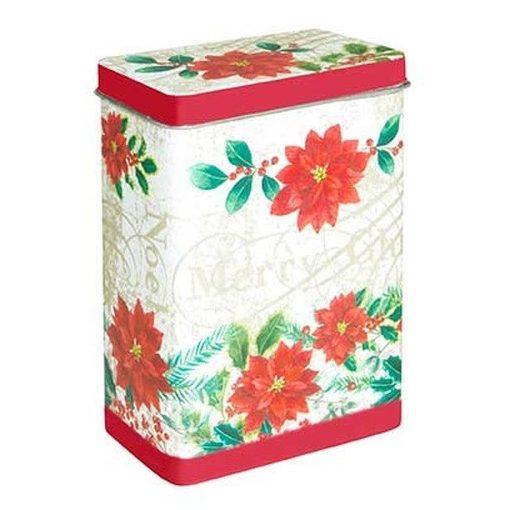 Poinsettie konyhai fémdoboz 82x52x119mm