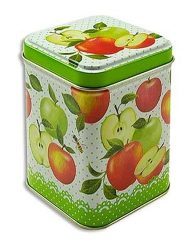 Apple Harvest  konyhai fémdoboz 71x71x93mm