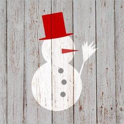 PPD.C3332173 Snowman on Wood papírszalvéta 33x33cm,20db-os