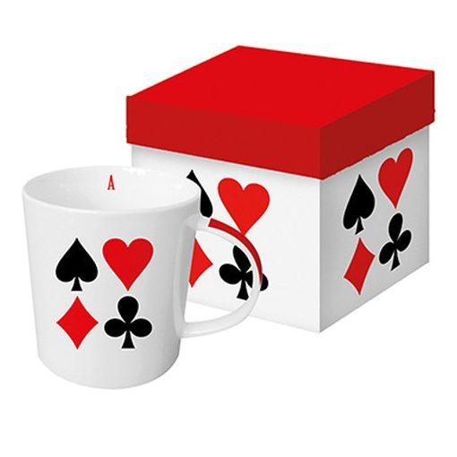 Porcelánbögre 0,35l dobozban, Card Deck