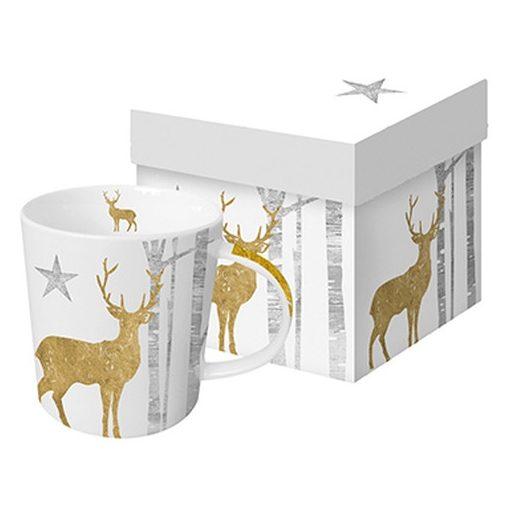 Porcelánbögre 0,35l dobozban Mystic Deer Gold