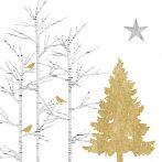 PPD.C3332889 Mystic Tree white papírszalvéta 33x33cm,20db-os