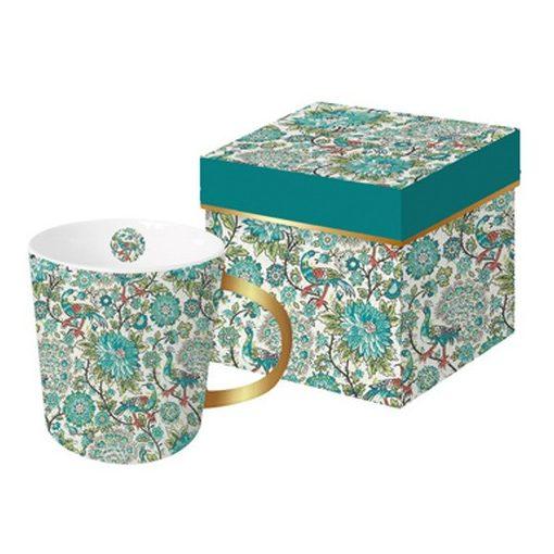 Porcelánbögre  0,35l,dobozban,Pavone,Tassotti design