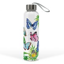 Üvegflaska borosilicate üveg, 550ml,Tropical Butterflies