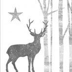 PPD.B3253500 Mystic Deer Silver White papírszalvéta 25x25cm, 20db-os
