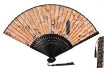 Legyező 37x21x3cm, műanyag/polyester,  Klimt: Életfa