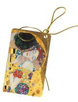Ajándékkísérő kártya, papír, 10db-os,Klimt:The Kiss