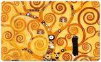FRI.12221 Reggeliző alátét melamine 23,5x0,2x14,5cm,Klimt:Életfa