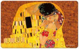 FRI.12222 Reggeliző alátét melamine 23,5x0,2x14,5cm,Klimt:The Kiss
