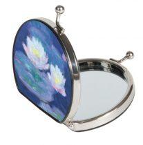 Zsebtükör nagyítós textilbevonatú 7x7,5x2,5cm, Monet: Water Lilies