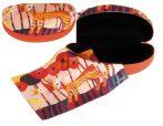 FRI.12582 Szemüvegtok textilbevonatú,törlőkendővel,16,5x6,5x8cm,Rosina Wactmeister:Cats Red Flowers