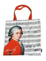 Textil bevásárlótáska 38x40cm, polyester, Mozart