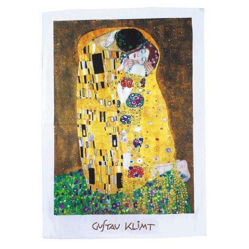 Pamut konyharuha 45x65cm,Klimt:The Kiss