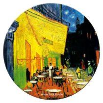 Táskatükör fém, egyoldalas, 7,6cm Van Gogh: Café de nuit