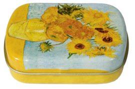 Fémdoboz 6,3x1,8x5,2cm, Van Gogh:Napraforgók