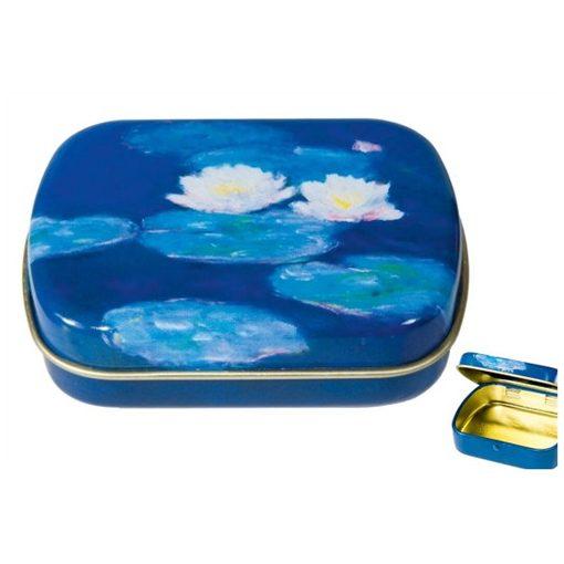 Fémdoboz 6,3x1,8x5,2cm,Monet:Water Lilies