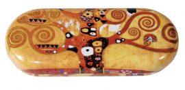 Szemüvegtok fémdoboz, 16x2,8x6,6cm, Klimt:Életfa
