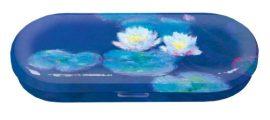FRI.18741 Szemüvegtok fémdoboz, 16x2,8x6,6cm Monet: Water Lilies