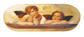 FRI.18756 Szemüvegtok fémdoboz, 16x2,8x6,6cm, Raffael Angels