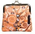 Csatos pénztárca 10,5x10x3cm, polyester, Klimt:Életfa