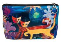 Kozmetikai táska 19x2,5x13cm, polyester,Rosina Wachtmeister:Wonderland