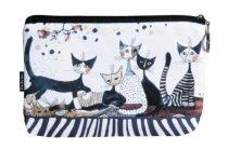 Kozmetikai táska 19x2,5x13cm, polyester,Rosina Wachtmeister:Cats Sepia