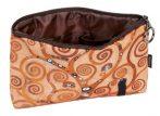 Kozmetikai táska 19x2,5x13cm, polyester,Klimt:Életfa