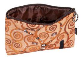 FRI.19057 Kozmetikai táska 19x2,5x13cm, polyester,Klimt:Életfa